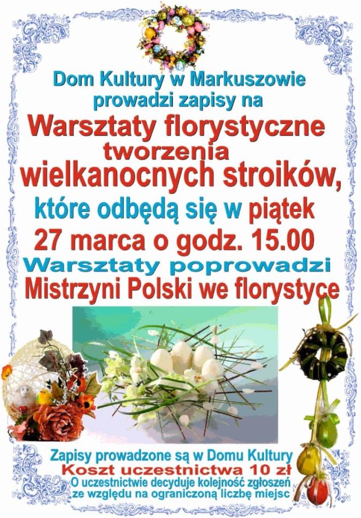 Warsztaty florystyczne 27.03.2015 1