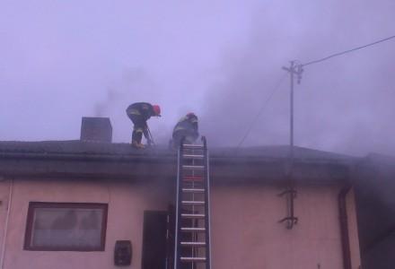 Pożar zakładu krawieckiego w Zabłociu