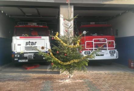 Świąteczny akcent u Strażaków z OSP Markuszów