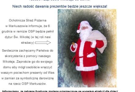Druh Św. Mikołaj w OSP Markuszów