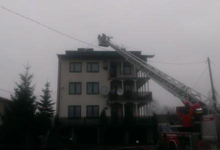 Pożar przy ulicy Lubelskiej w Markuszowie