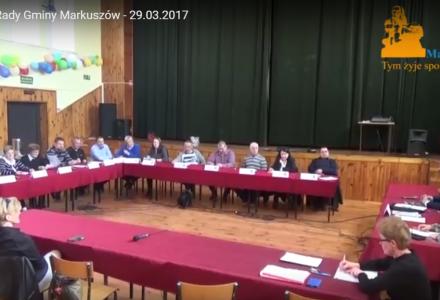 Nagranie z XVII sesji Rady Gminy Markuszów – 29.03.2017
