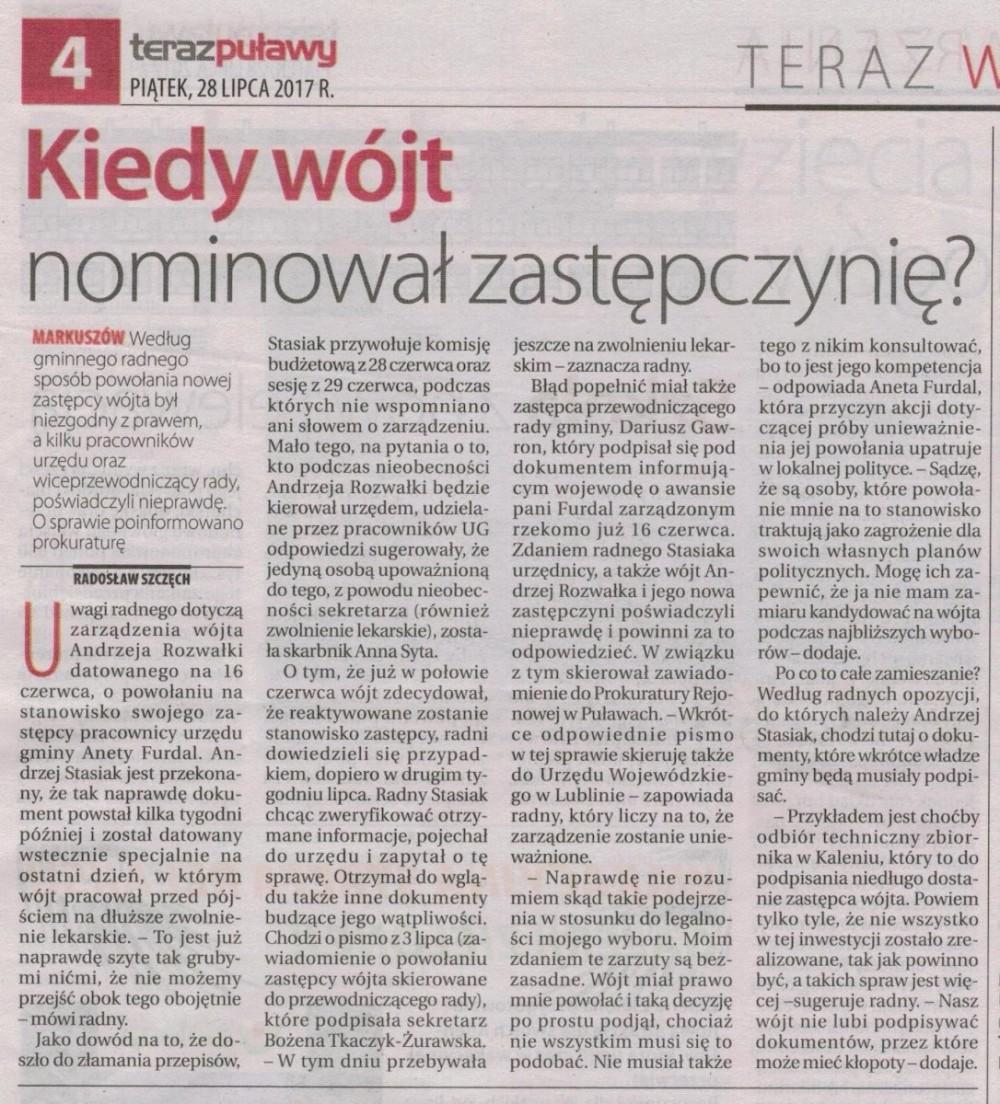 Teraz Puławy 28.07.2017