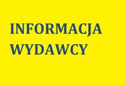 Informacja Wydawcy