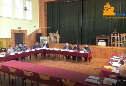 Nagranie z XX sesji Rady Gminy Markuszów – obrady po przerwie 13-12-2017