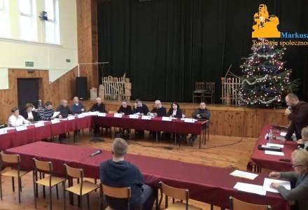 Nagranie z XXI Nadzwyczajnej sesji Rady Gminy Markuszów – 02.01.2018