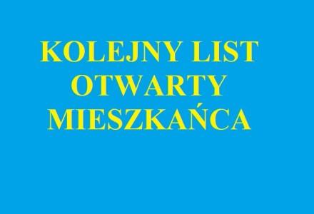 Kolejny list otwarty mieszkańca gminy Markuszów