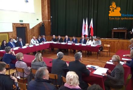 Nagranie z I Sesji Rady Gminy Markuszów – 22.11.2018. Realizowane przez markuszow24.pl