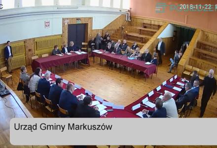 Nagranie z transmitowanej na żywo I Sesji Rady Gminy Markuszów -22.11.2018