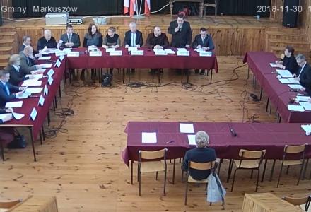 Nagranie z II Nadzwyczajnej Sesji Rady Gminy Markuszów 30.11.2018 – nagranie z transmisji na żywo.