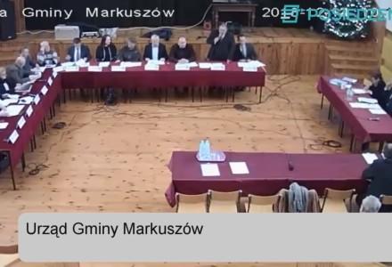 Nagranie z III Sesji Rady Gminy Markuszów 14.12.2018 – nagranie z transmisji na żywo.
