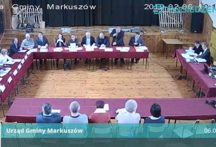 Nagranie z IV Sesji Rady Gminy Markuszów 06.02.2019 – nagranie z transmisji na żywo.