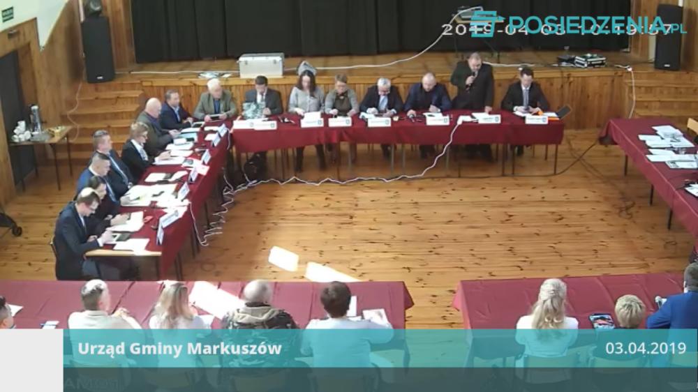 Nagranie z V Sesji Rady Gminy Markuszów 03.04.2019 – nagranie z transmisji na żywo.