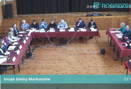 Nagranie z VIII Nadzwyczajnej sesji Rady Gminy Markuszów – 23.10.2019