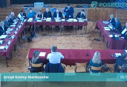 Nagranie z X sesji Rady Gminy Markuszów – 20.12.2019