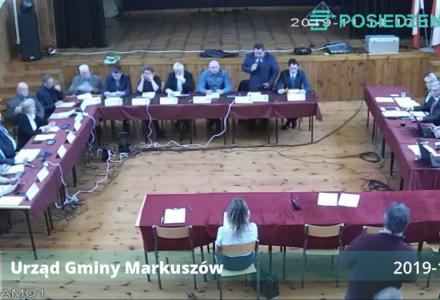 Nagranie z IX sesji Rady Gminy Markuszów – 14.11.2019