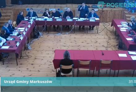 Nagranie XI Sesji Rady Gminy Markuszów – 31-01-2020